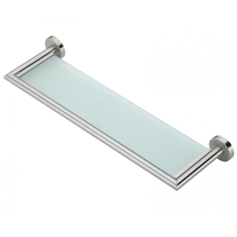 Heiko Brushed Glass Shelf