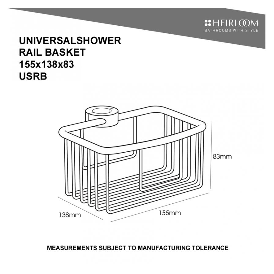 Universal Slide Shower Basket