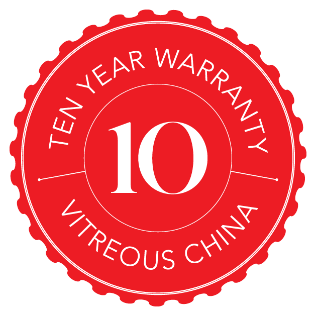 Sanitaryware 10 Year Warranty