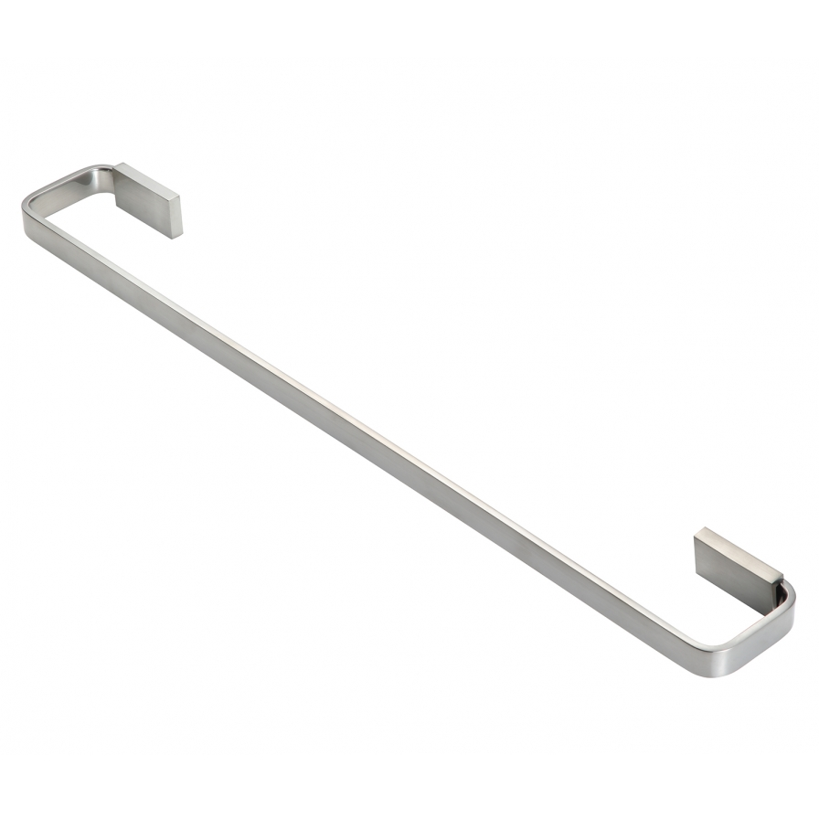 Podium Single Towel Rail Brushed Nickel