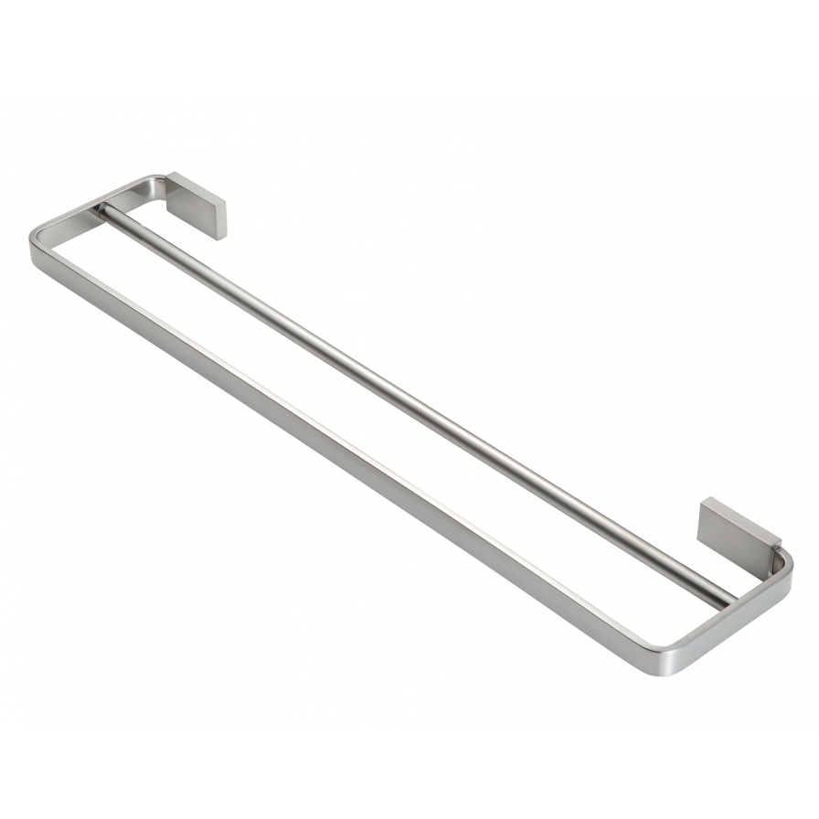 Podium Double Towel Rail Brushed Nickel