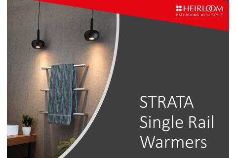 Strata Single Rail Towel Warmers